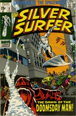 Silver Surfer #13 from the 1960s series. Click for value