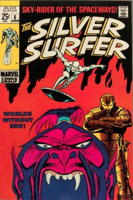 Origin and First Appearance, Overlord (Rakkhal), Silver Surfer #6, Marvel Comics, 1969. Click for value