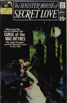 Sinister House of Secret Love #1, grey tone cover, Wes Craven text story. Click for values