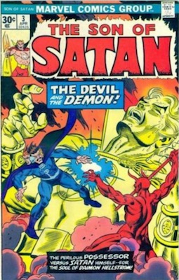 Son of Satan #3 30 Cent Price Variant April, 1976. Regular Price Box