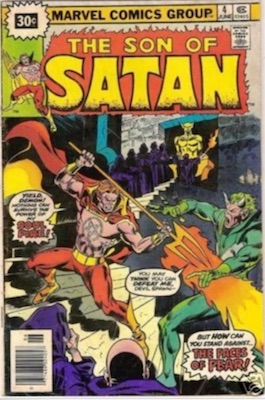 Son of Satan #4 30c Variant June, 1976. Price in Starburst
