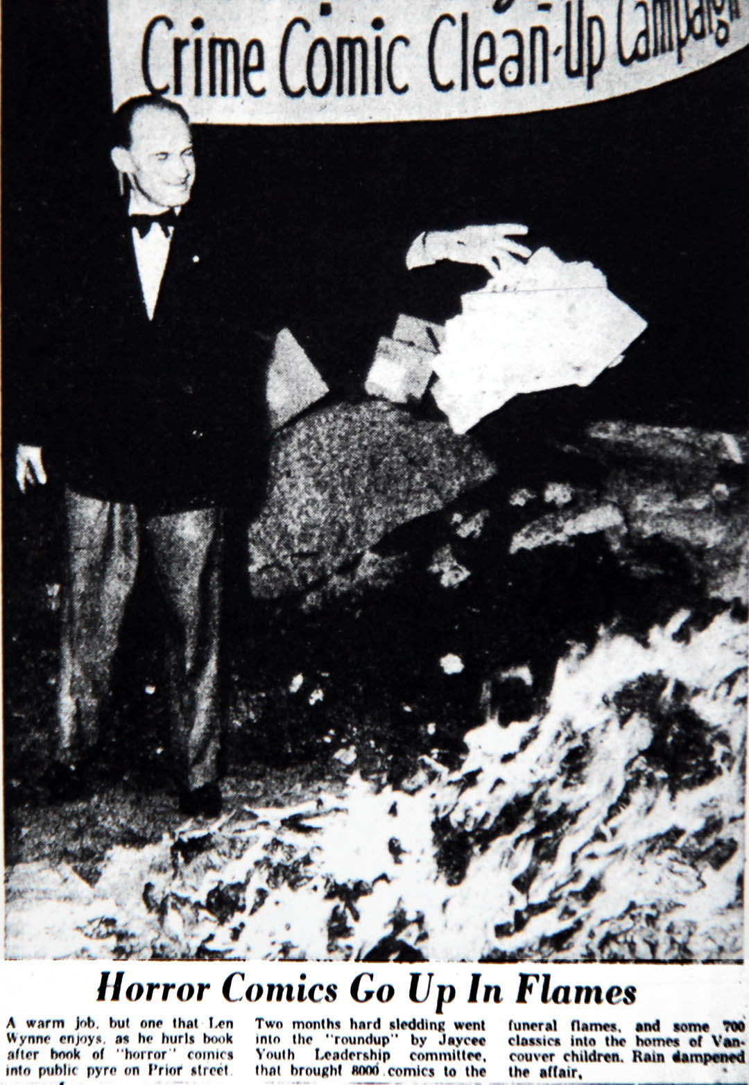Shock horror! Seduction of the Innocent and Book Burning Campaigns