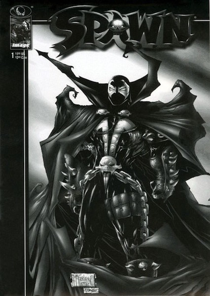 #32: Spawn 1 Black and White Reprint Edition, McFarlane (1997). Click for values