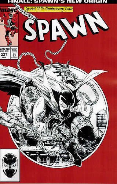 #61: Spawn 227 McFarlane Sketch (2013). Click for values