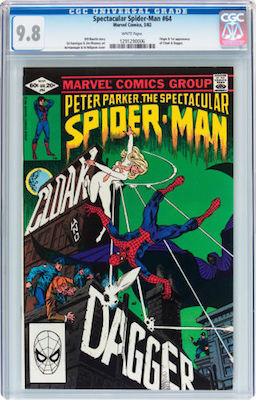 Spectacular Spider-Man #64 (1st Cloak and Dagger) is best bought only in CGC 9.8. Click to buy a copy