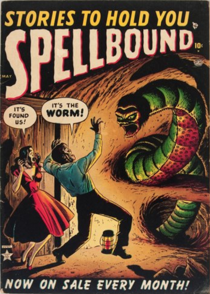 Spellbound #3 (1952): Couple Attacked by Giant Worm Creature! Click for value