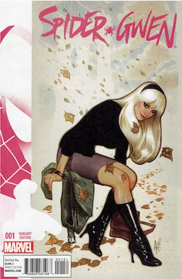 Spider-Gwen #1 (2015) Hughes Variant Cover. Click for values