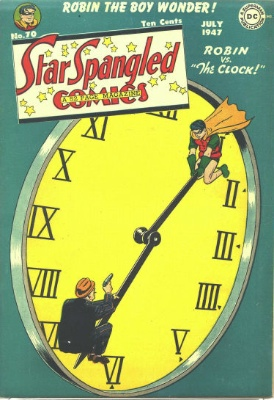 Origin and First Appearance, Clock King, Star Spangled Comics #70, DC Comics, 1947. Click for value