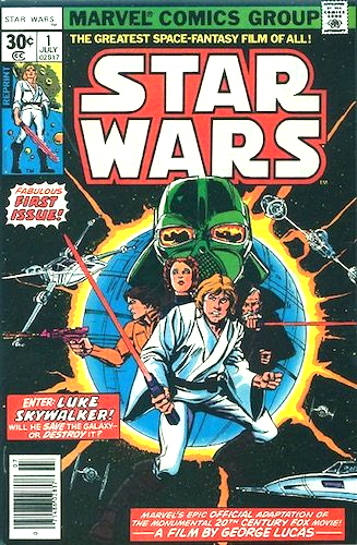 Star Wars #1 30c reprint edition. REPRINT appears next to Luke below price. Not valuable.