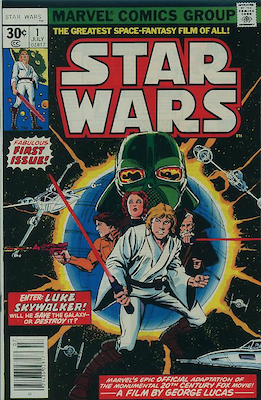 Star Wars #1 (1977): First in Series, Movie Hype Drove Price Up to Record Highs (Hype Sale $3,500). Click for current prices