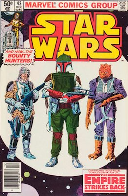 Star Wars comics #42: 1st appearance of Boba Fett. Click for values