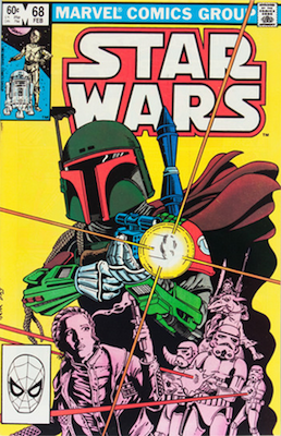Star Wars comics #68: 1st cover appearance of Boba Fett. Click for values