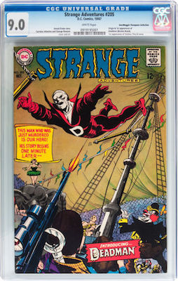 A fresh, crisp CGC 9.0 copy of Strange Adventures #205 (1st Deadman) is our recommendation. Click to find yours!