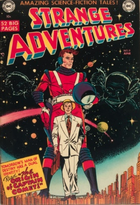 Strange Adventures #9: Origin and First Appearance, Captain Comet. Click for values