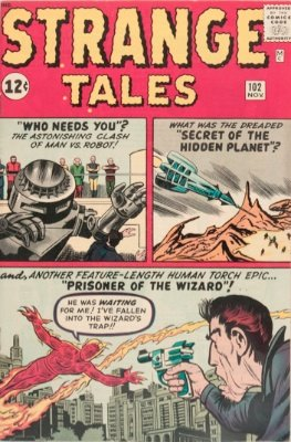 Origin and First Appearance, Wingless Wizard, Strange Tales #102, Marvel Comics, 1962. Click for value