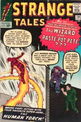 Strange Tales #110, July 1963: First Appearance of Dr Strange, Marvel Master of Black Magic. Click for value