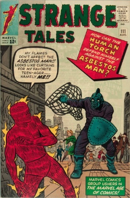 Origin and First Appearance, Asbestos Man, Strange Tales #111, Marvel Comics, 1963. Click for value