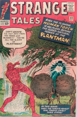 Origin and First Appearance, Plantman, Strange Tales #113, Marvel Comics, 1963. Click for value
