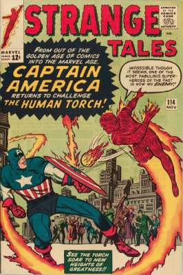 Hot Comics #40: Strange Tales #114, 1st Captain America in the Silver Age. Click to buy a copy