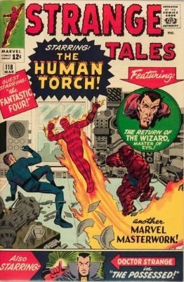 Strange Tales #118, first Dr. Strange cover appearance. Click to research on eBay