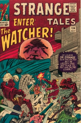 Strange Tales #134: first appearance of The Watcher. Click for values