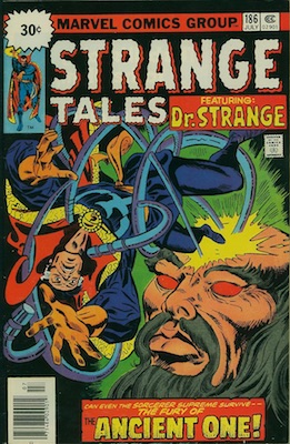Strange Tales #186 30c Variant Edition July, 1976. Starburst Flash