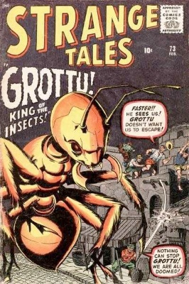 There were two prototype-style stories featuring ant-like creatures, both in Strange Tales. This is #73. Click for values