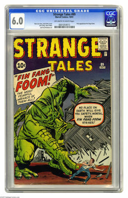 Strange Tales #89 is a tough book. With only 128 unrestored examples, try to find a clean CGC 6.0. Click to buy a copy