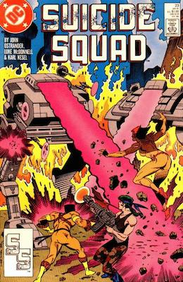 Barbara Gordon debuts in the Suicide Squad as Oracle in #23 of the 1987 Suicide Squad comic series. Click for value