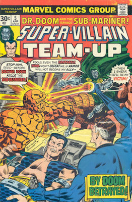 Super-Villain Team-Up #5 30c Variant April, 1976. Regular Price Box