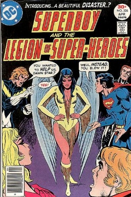 Dawnstar, one of the more popular LSH members, debuted in Superboy #226, when she is recruited by Wildfire to join the group. Click for values