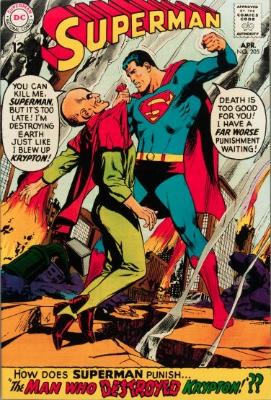 Origin and First Appearance, Black Zero, Superman #205, DC Comics 1968. Click for value