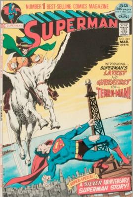 Origin and First Appearance, Terra-Man, Superman #249, DC Comics, 1972. Click for value