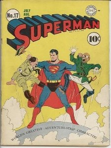 Hitler and Hirohito on the cover of Superman #17