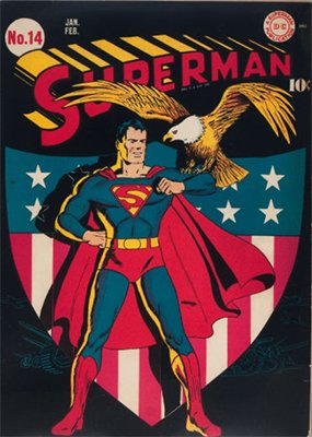 Superman Comics #14: Patriotic Cover