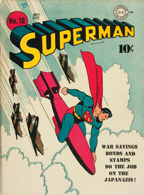 a classic 'bomb rodeo' cover Superman #18. Click for values