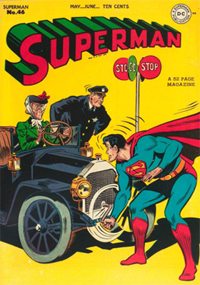 Superman #46: Superboy first mentioned in this series. Click for values