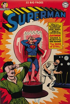 Superman #68: Lex Luthor cover. Click for values