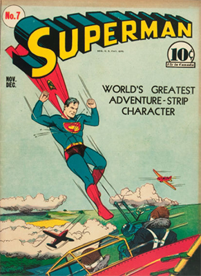 Superman #7: First appearance of Perry White. Click for values
