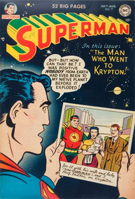 Superman comic #77. Click for values