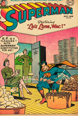 Superman comic book #82 was printed without a cover price. Click for values