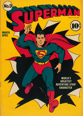 Superman comic book #9. Click for values