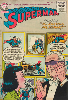 Superman #97: Superboy and Lana Lang appearance, in flashback. Click for values