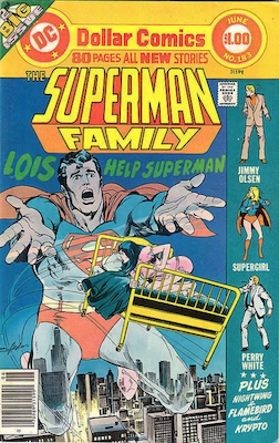 Superman Family #183: Superman's cousin Van-Zee becomes the second Nightwing; Ak-Var becomes Flamebird. Click for values.