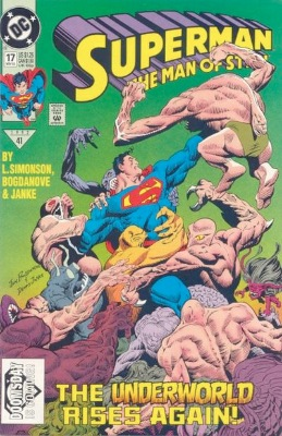 Top 20 Hot Comics #7: Superman, Man of Steel #17, First Major Appearance of Doomsday. Click for value