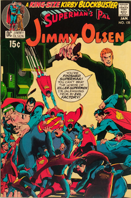 Jimmy Olsen #135: Second cameo appearance. Click for values