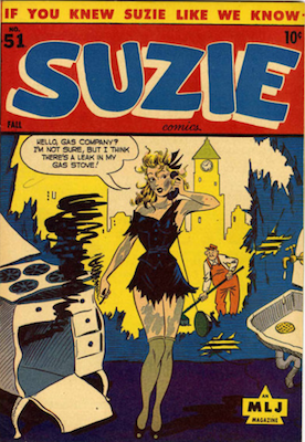 Suzie Comics #51: Classic Exploding Oven cover. Click for values