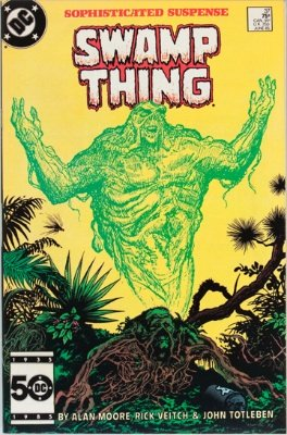 Hot Comics #71: (Saga of the) Swamp Thing #37, 1st John Constantine (Hellblazer). Click to buy