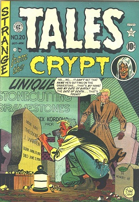 Tales from the Crypt #20 (1950): First issue of the series; retitled from