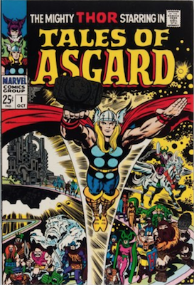 Tales of Asgard #1 (1968): Reprints early Thor Marvel comics. Click for value